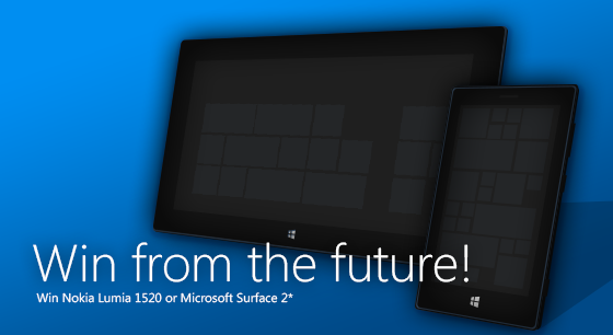 Win Nokia Lumia 1520 or Microsoft Surface 2